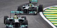 Nico Rosberg y Lewis Hamilton en Brasil - LaF1