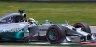 Lewis Hamilton a los mandos de su W05 Hybrid - LaF1