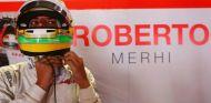 Roberto Merhi en el box de Manor durante los entrenamientos de Mónaco - LaF1