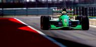 Mick Schumacher rueda con el Jordan 191 de su padre - SoyMotor.com