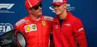 Kimi Räikkönen y Mick Schumacher en el GP de Italia 2018 - SoyMotor