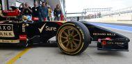 Lotus probó llantas de 18 pulgadas en un test en Silverstone 2014 - SoyMotor
