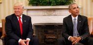 Donald Trump y Barack Obama, ayer en la Casa Blanca para empezar la transición de poderes - LaF1
