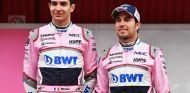Esteban Ocon y Sergio Pérez en Barcelona - SoyMotor.com