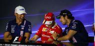 Esteban Ocon, Sebastian Vettel y Sergio Pérez en Monza - SoyMotor.com