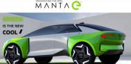 Ilustración distribuida por Opel del posible Manta e, aunque la letra pequeña remarca que no es representativa del coche de producción - SoyMotor.com