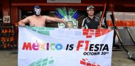 Blue Demon y Sergio Pérez en el Circuit de Barcelona-Catalunya - LaF1