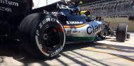 El Force India de Pérez, durante el GP de Brasil - LaF1