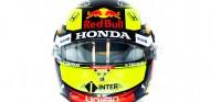 Pérez presenta su primer casco Red Bull: regreso al amarillo - SoyMotor.com