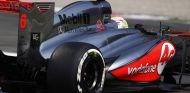 Sergio Pérez con el compuesto medio de Pirelli - LaF1