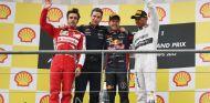 Podio del Gran Premio de Bélgica