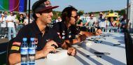 Jean-Eric Vergne y Daniel Ricciardo en Hungría