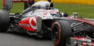 Jenson Button durante el Gran Premio de Bélgica