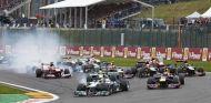 Salida del Gran Premio de Bélgica