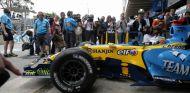 Fernando Alonso en el Gran Premio de Brasil de 2006