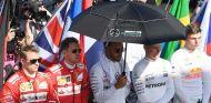 Kimi Räikkönen, Sebastian Vettel, Lewis Hamilton, Valtteri Bottas y Max Verstappen en Albert Park - SoyMotor.com