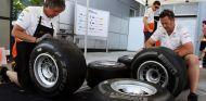 Mecánicos de Force India en el Gran Premio de la India - LaF1