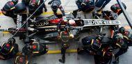Pit stop de Romain Grosejan en el GP de Italia F1 2013 - LaF1