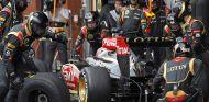 Pit stop de Kimi Räikkönen durante el GP de Bélgica F1 2013 - LaF1