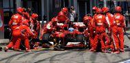 Pit stop de Fernando Alonso en Nürburgring
