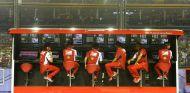 Pit-Wall de Ferrari en Singapur