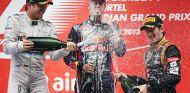 Podio del Gran Premio de la India - LaF1
