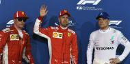 Kimi Räikkönen, Sebastian Vettel y Valtteri Bottas en Baréin - SoyMotor.com