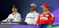 Rosberg, Hamilton y Räikkönen en la rueda de prensa oficial después de la calificación - LaF1