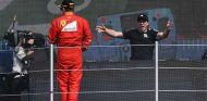 Kimi Räikkönen en el podio del GP de México 2017 - SoyMotor.com