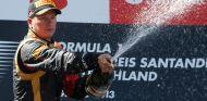 Kimi Räkkönen en el podio de Nürburgring