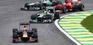 Vettel por delante de los Mercedes y del Ferrari de Alonso en Brasil - LaF1