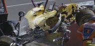 El coche de Kevin Magnussen tras el accidente - LaF1