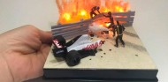 Un artista reproduce el rescate de Grosjean en miniatura  - SoyMotor.com