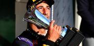 Daniel Ricciardo celebrando su tercera posición en Hungría - LaF1
