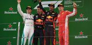 Captura del podio final del GP de China 2018 – SoyMotor.com