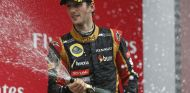 Romain Grosjean en el podio de Corea - LaF1