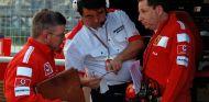 Ross Brawn cuando trabajaba para Ferrari
