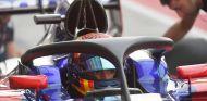 Sainz probando el halo en el GP de Italia - SoyMotor.com