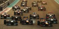 Salida del GP de Abu Dabi F1 2013 - LaF1