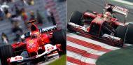 Michael Schumacher (2004) y Fernando Alonso (2013), pasado y presente de Ferrari - LaF1