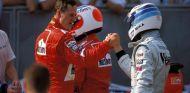 Schumacher y Häkkinen en una foto de archivo - SoyMotor