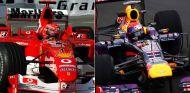 Schumacher en el GP de Mónaco de 2004 y Vettel en el de Canadá 2013 - LaF1
