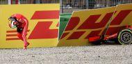 Sebastian Vettel, tras su accidente en Hockenheim - SoyMotor.com
