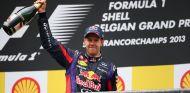 Sebastian Vettel celebra su victoria en Spa-Francorchamps - LaF1