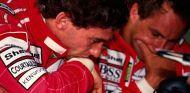 Ayrton Senna y Gerhard Berger en Silverstone en 1992- SoyMotor.com