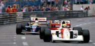 Ayrton Senna (McLaren MP4/7A Honda) y Nigel Mansell (Williams FW14B Renault), GP de Mónaco F1 1992 - LaF1