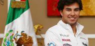 Sergio Pérez ayer durante su anuncio como piloto Force India - LaF1