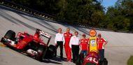 Shell y Ferrari se fueron al antiguo Monza para enmarcar su nuevo acuerdo - LaF1