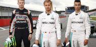 Nico Hülkenberg, Nico Rosberg y Pascal Wehrlein en el Media Day de Mercedes en Hockenheim - LaF1
