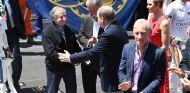 Jean Todt, Chase Carey y el Príncipe Alberto de Mónaco - SoyMotor